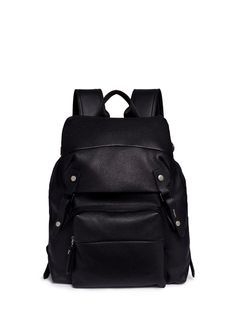 Lanvin | Natural grain leather backpack