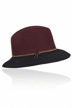 Hiba Hat Plum/Black, please be mine?:)