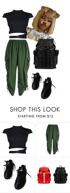 """""""Untitled #27"""" by kalienajb ❤ liked on Polyvore featuring Boohoo, NIKE and Louis Vuitton"""