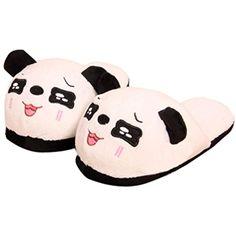 Women's Winter Shoes Egmy Panda Winter Warm Plush Antiskid Indoor Home Slippers