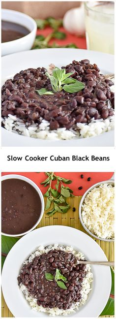 Cooker Cuban Black Beans - Frijoles Negros My abuela's authentic Cuban Black Bean recipe in slow cooker version.My abuela's authentic Cuban Black Bean recipe in slow cooker version. Slow Cooker Black Beans, Vegan Slow Cooker, Slow Cooker Recipes, Black Cooker, Cook Beans In Crockpot, Bean Crockpot Recipes, Easy Bean Recipes, Crockpot Veggies, Crockpot Side Dishes