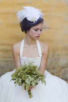 Weddings Ivory Birdcage Veil Bridal Hat Feather Fascinator   Etsy Wedding Veils, Wedding Dresses, Short Veil, Bridal Hat, Magical Wedding, Amazing Photography, Vintage Fashion, Flower Girl Dresses, Hair Styles