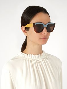 Click here to buy Marni Rectangle-frame acetate sunglasses at MATCHESFASHION.COM