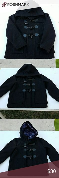 Urban Republic black  Pea Coat Urban Republic Black Pea Coat  Size 4 & 7 In great condition  Zips up and buttons up  I do bundle and offers are welcome Urban Republic Jackets & Coats Pea Coats