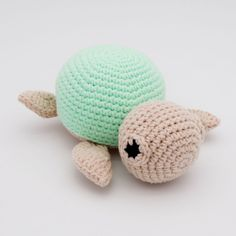 Crochet Geek, Cute Crochet, Crochet Toys, Crochet Baby, Crochet Animal Amigurumi, Crochet Animal Patterns, Stuffed Animal Patterns, Amigurumi Patterns, Crochet Turtle Pattern Free
