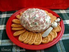 CHIPPED BEEF CHEESE BALL     2 pkgs. chipped beef, chopped 2 (8 oz.) pkgs. cream cheese 1 tsp. Lawry's seasoned salt (Optional) 2 tbsp. Worcestershire sauce 1 bunch chopped green onions  Combine all ingredients, form into a ball and refrigerate-Serve with Crackers   Optional Additions- Diced Jalapenos Shredded Cheese  Diced Yellow Onion Minced Olives- Black or Green  Press Additional Chipped Beef Around Outside Press Sliced Almonds or Other Nuts Around Outside Christmas Cheese Ball Recipe, Chipped Beef Dip, Creamed Chipped Beef, Cheese Ball Recipes, Ham And Cheese Ball Recipe, Ham Ball Dip Recipe, Cream Cheese Ball, Original Cheese Ball Recipe, Cream Cheese Dips