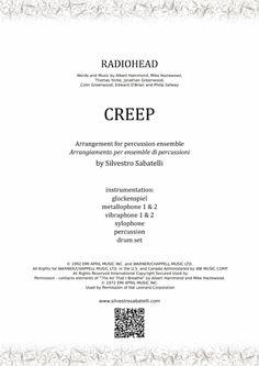 Creep - Radiohead By Radiohead Creep Radiohead, Albert Hammond, Percussion Drums, Writing About Yourself, Original Music, Digital Sheet Music, Music Files, Self Publishing, Make A Wish