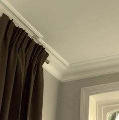 Cove Molding: This wall has cove molding. With the wall meets at a curved angle with the cove molding. It has a smooth texture with bumps, and is used to give a creative look to the room. Types Of Crown Molding, Ceiling Crown Molding, Cove Molding, Panel Moulding, Moldings, Bedroom Ceiling, Ceiling Decor, Ceiling Design, Ceiling Ideas