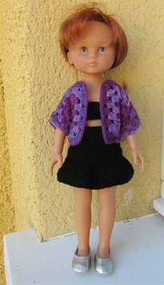 Tenue pour poupée Chéries de Corolle Easy Crochet Stitches, Free Crochet, Crochet Patterns, Crochet Doll Clothes, Kids And Parenting, Barbie Dolls, Free Pattern, Marie, Outfits