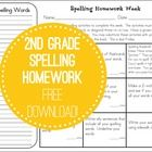 6 different spelling tic-tac-toe forms for students to use as weekly homework.  Freebie