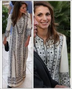 Queen Rania in traditional thoub