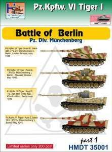 H-Model Decals 1/35 Pz.Kpfw.VI Tiger I Battle of Berlin (Pz. Div. Munchenberg), Part 1 # 35001