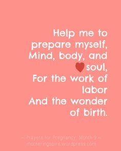 Prayers for Pregnancy - Month 9