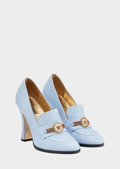 12cf9e6dd4c5 Versace Tribute Loafer Heels High Heel Loafers