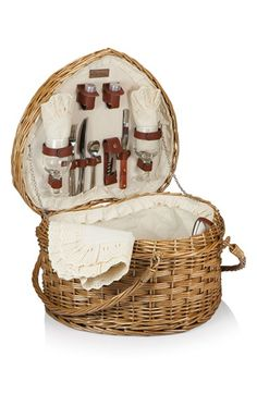 Picnic Time Heart Shaped Wicker Picnic Basket available at #Nordstrom