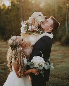 Include Your Pet In Wedding Photos ★ Tips and ideas to add to your wedding photography list. Best romantic poses and details for your inspiration. wedding photos Fantastic Wedding Photography Ideas To Make It The Day To Remember Dog Wedding, Wedding Goals, Budget Wedding, Wedding Pictures, Wedding Planner, Dream Wedding, Wedding Day, Wedding Bride, Wedding Themes