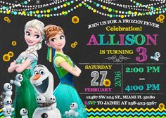Frozen Fever Invitation Birthday Frozen Fever Party by LuckyPixel