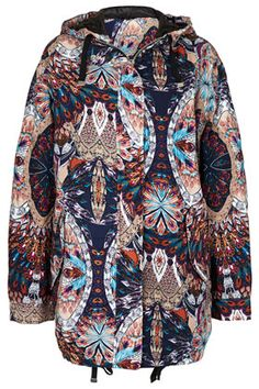 Peacock Ovoid Parka TOPSHOP
