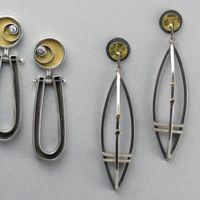 "Debbie Brown Jewelry - Earrings. ""I have had the privilege of training under some amazing jewelry artists and instructors.  Connie Fox, Barbara Minor, Pauline Warg,  Steff Koursage, Lisa D'Agostino and Blaine Lewis.  Much thanks to each of you for sharing your amazing talent!"""