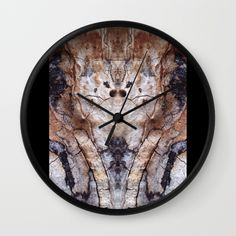 """Abstract Elephant Face Wall Clock 