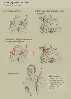 How to draw Mark Gatiss.