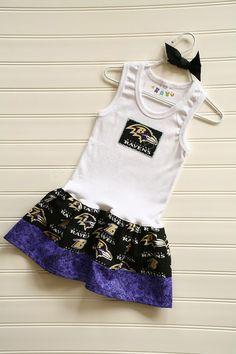 Super cute NFL/NBA/NCAA tank dress, (different teams available) by BabyThreadsByLiz, $23.00