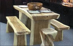 Natural Teak Wood Table - http://www.nomadicarts.com/