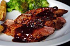 Chipotle-Pomegranate Glazed Roasted Pork Tenderloin