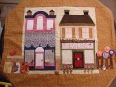 Hooley Dooley Village Patch Quilt - Pet and Flower Shop