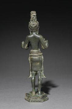 Maitreya: The Buddha of the Future, 600s  Cambodia, Pre-Angkorean period (600-802)  bronze, Overall: h. 28.2 cm (11 1/16 in)