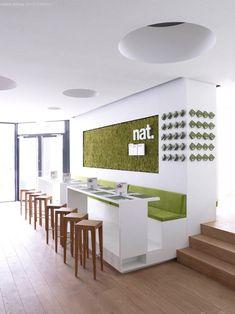 Nat. Fine Bio Food Restaurant interior by eins:eins Architects hotels and restaurants eco