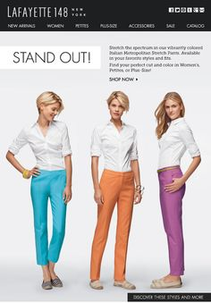 Lafayette 148 New York - Stand Out! Make A Statement With Colored Pants