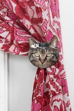 Plum & Bow Cat Curtain Tie-Back #urbanoutfitters