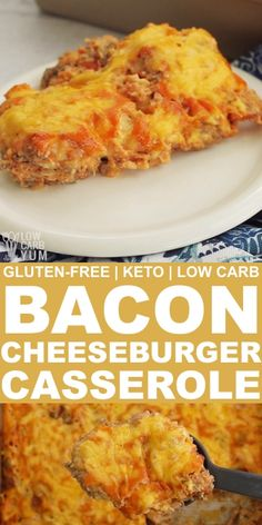 Lower Excess Fat Rooster Recipes That Basically Prime Keto Cheeseburger Casserole With Bacon Makes An Easy And Delicious Low Carb And Gluten-Free Casserole Thats Perfect For Busy Weeknights And Good Enough For Sunday Dinners With The Whole Family. Ketogenic Recipes, Diet Recipes, Cooking Recipes, Ketogenic Diet, Smoothie Recipes, Crab Recipes, Snacks Recipes, Recipes With Bacon, Good Recipes