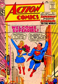 Action Comics with Superman & Supergirl!