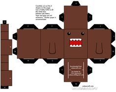 Cubeecraft has patterns for folding character blocks from paper. Too cute!