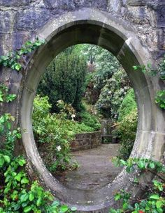 There is something about a circular door leading to a secret garden...