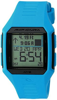 The Rifles Midsize tide watch by Rip Curl features 500 pre-programmed tide locations in graph or detailed display an alarm and a stopwatch. A countdown timer and light put all the data you need righ...