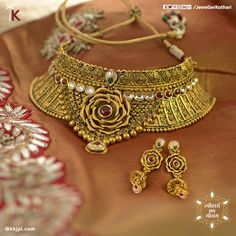 Adorn your style with stunning #traditional #jewellery in this season of festivals. Visit our stores to view the entire collection. #Kundan #AntiqueGold #GaneshChaturthi #PureAndTimeless