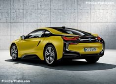 BMW i8 Protonic Frozen Yellow 2018 poster, #poster, #mousepad, #tshirt, #printcarposter
