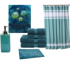Dark Teal Bathroom By Jennifercapps On Polyvore