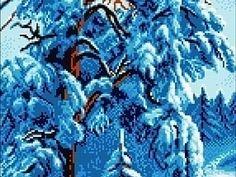 На подходе зима и всем нам нравится пора когда выпадает первый снег и играет своим блеском на солнышке. Мне написали несколько мастеров по вышивке бисером и попросили подобрать бисер к данной схеме под название 'Зимнее одеяло' и конечно же взять за это минимальную цену. Бисер я подобрала. Схему оформила и готова пойти на вариант где вы сами предложите ту цену, которую вам бы хотелось заплатить.