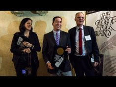 """""""This Award Is for Snowden"""": Greenwald, Poitras Accept Polk Honor for Exposing NSA Surveillance 
