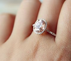 Gifts 14k Rose Gold Engagement Ring With Classic by RobMdesign