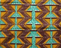 Tela africana por la yarda, Brown Ankara tela, GTP NuStyle, tela de la impresión étnicos, cera impresión, en Ghana, tienda de telas africanas, algodón