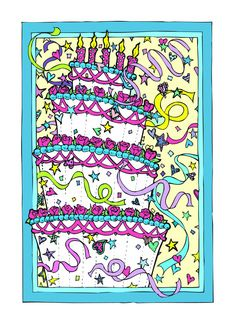 Happy Birthday Cake Greeting Card Greeting Card