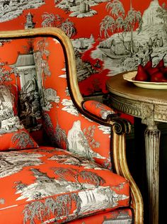 orange toile: Manuel Canovas