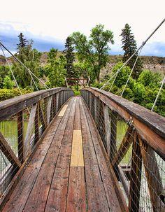 Ryan Dam Bridge over the Missouri River in Great Falls, Montana. I braved it and ran the last 20 ft.