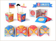 Printable fiesta! Cinco de Mayo party printables tutorials, templates and ideas by happythought.co.uk