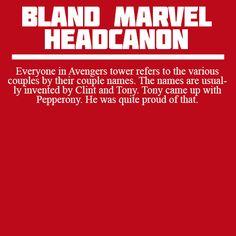 Bland marvel headcannons